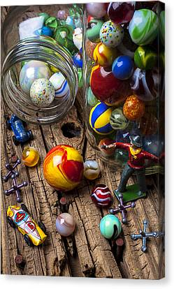 Toys And Marbles Canvas Print by Garry Gay