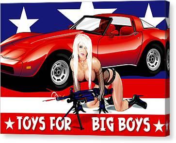 Toys For Big Boys Canvas Print by Brian Gibbs