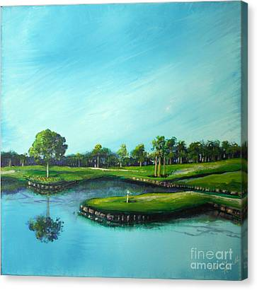 Tpc 17th Hole 2010 Canvas Print by Michele Hollister - for Nancy Asbell