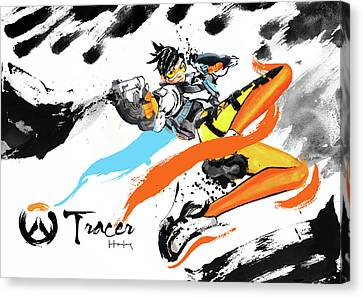 Tracer Overwatch Canvas Print by Haze Long