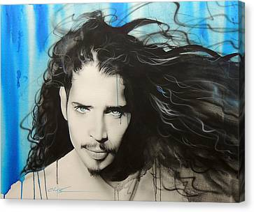 Chris Cornell - ' Track 12 ' Canvas Print by Christian Chapman Art