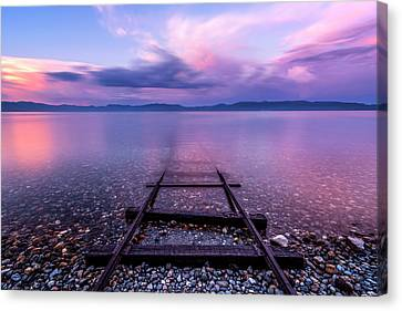 Canvas Print featuring the photograph Tracks To Tahoe by Brad Scott