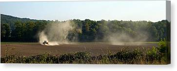 Canvas Print featuring the photograph Tracteur Enfume by Marc Philippe Joly