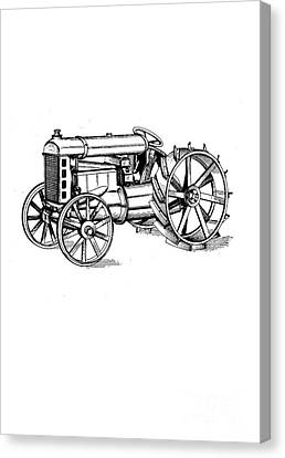 Tractor 1919 Henry Ford T-shirt Canvas Print by Edward Fielding