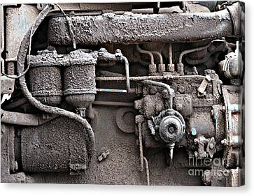 Canvas Print featuring the photograph Tractor Engine II by Stephen Mitchell