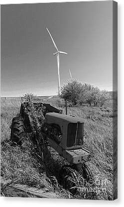 Tractor In The Wind Canvas Print