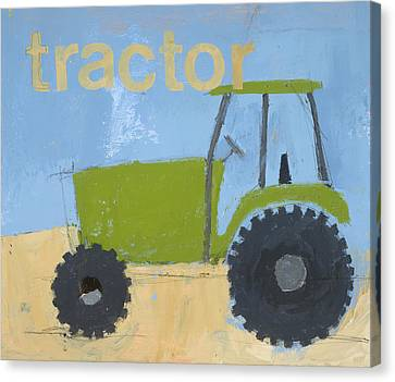 Tractor Canvas Print by Laurie Breen