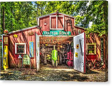 Quaker Canvas Print - Tractor Repair Shoppe by Debra and Dave Vanderlaan