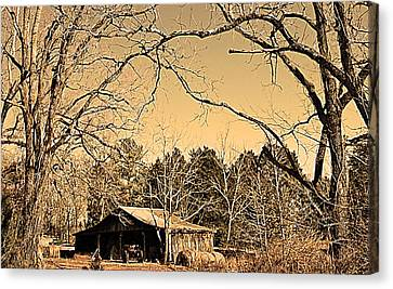 Tractor Shed Canvas Print by Patricia Motley