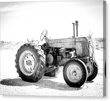 Canvas Print featuring the photograph Tractor by Silvia Bruno
