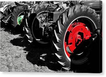 Tractor Wheels Canvas Print by Luke Moore