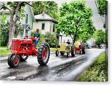 Tractors On Parade Canvas Print