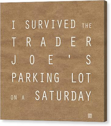 Trader Joe's Parking Lot Canvas Print by Linda Woods