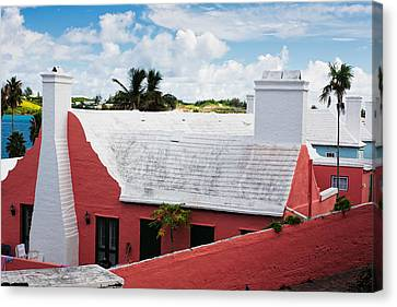 Traditional Bermuda Style House Canvas Print by George Oze