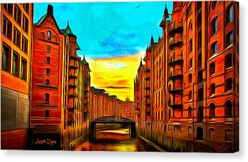 Traditional Buildings - Pa Canvas Print