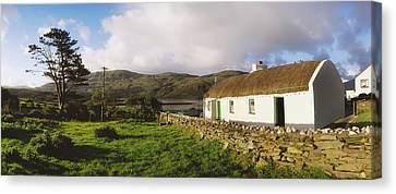 Traditional Cottage, Near Lough Rus Canvas Print by The Irish Image Collection