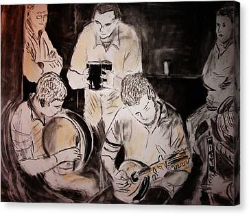 Traditional Irish Music Session Canvas Print by Gerard Dillon