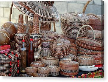 Traditional Kalinago Basket Craft From Dominica Canvas Print