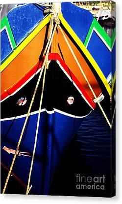 Traditional Maltese Fishing Boat Canvas Print by Thomas R Fletcher