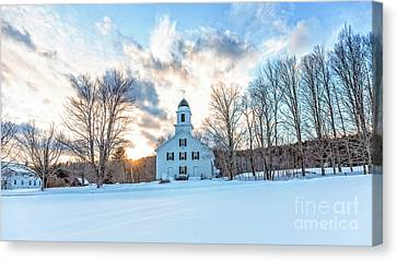Canvas Print featuring the photograph Traditional New England White Church Etna New Hampshire by Edward Fielding