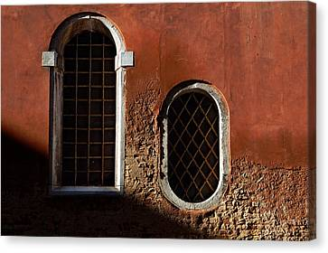 Traditional Venetian Windows Canvas Print by George Oze