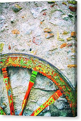 Traditional Sicilian Cart Wheel Detail Canvas Print
