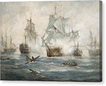 Water Vessels Canvas Print - Trafalgar   End Game by Richard Willis