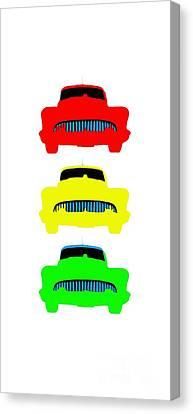Traffic Light Cars Phone Case Canvas Print by Edward Fielding