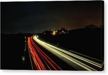 Long Street Canvas Print - Traffic by Martin Newman