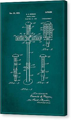 Traffic Signal Patent Drawing 1a Canvas Print by Brian Reaves