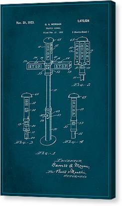 Traffic Signal Patent Drawing 1c Canvas Print by Brian Reaves