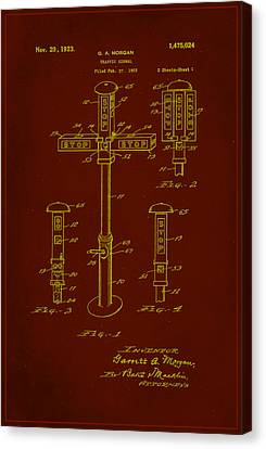 Traffic Signal Patent Drawing 1e Canvas Print by Brian Reaves