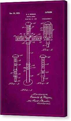 Traffic Signal Patent Drawing 1f Canvas Print by Brian Reaves