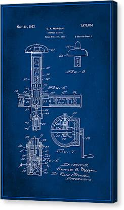 Traffic Signal Patent Drawing 2a Canvas Print by Brian Reaves