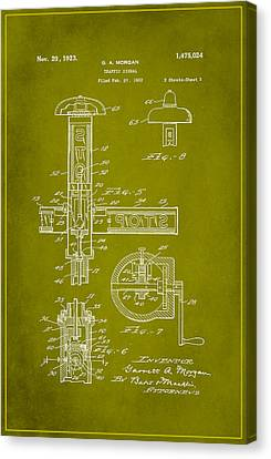 Traffic Signal Patent Drawing 2e Canvas Print by Brian Reaves