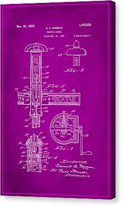 Traffic Signal Patent Drawing 2g Canvas Print by Brian Reaves
