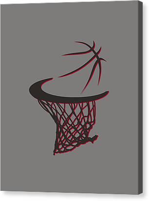 Trail Blazers Basketball Hoop Canvas Print