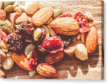 Trail Mix High-energy Snack Food Background Canvas Print by Jorgo Photography - Wall Art Gallery