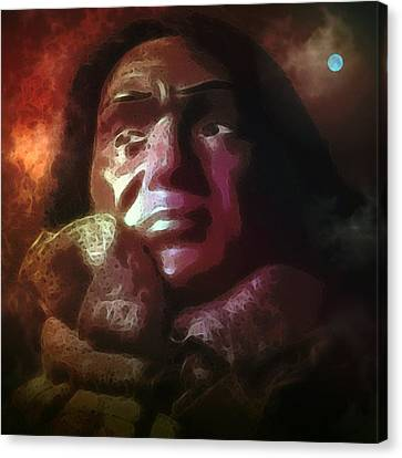 Trail Of Tears Canvas Print by Susan  Epps Oliver