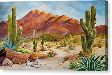 Trail To The San Tans Canvas Print by Marilyn Smith