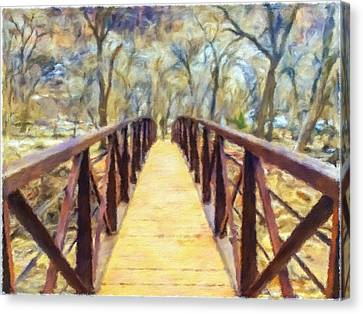 Trail To The Woods Canvas Print by Jonathan Nguyen