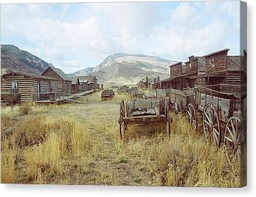 Trail Town Wyoming Canvas Print by Brent Easley