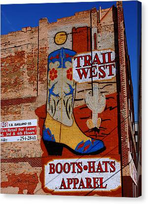 Trail West Mural Canvas Print by Susanne Van Hulst