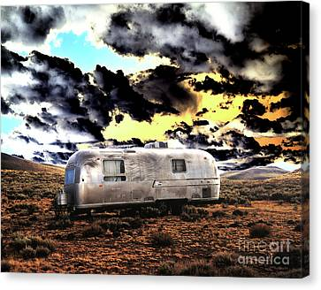 Canvas Print featuring the photograph Trailer by Jim and Emily Bush