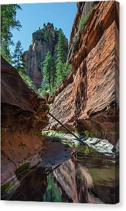 Oak Creek Canvas Print - Trail's End by Joseph Smith