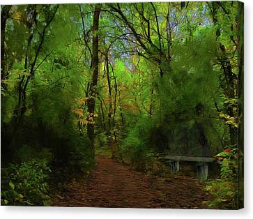 Trailside Bench Canvas Print