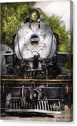 Train - Engine - 4039 American Locomotive Company  Canvas Print by Mike Savad