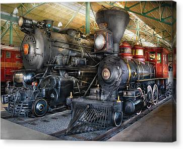 Train - Engine - Steam Locomotives Canvas Print by Mike Savad
