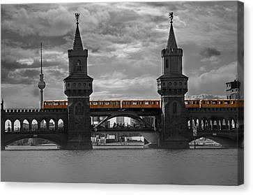 Train Bridge  Canvas Print by Nathan Wright