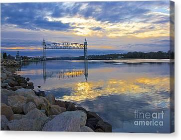 Train Bridge Sunrise  Canvas Print